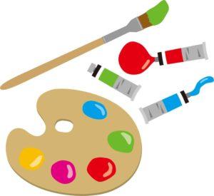 お絵描き遊びで使用する絵具